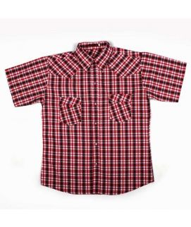 Check Style Red Shirt For Boys