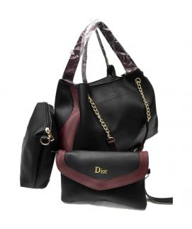 Black Hobo Ladies Pu Handbag With Clutch