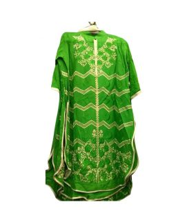 Women's 3 Pieces Azaadi Day Green Embroidered Stitched Suit