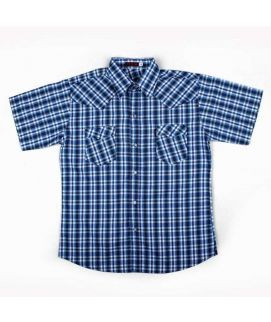 Check Style Dark Blue Shirt For Boys