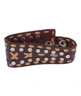 Brown Leather Bracelet  JP   1079