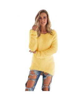 Women's Yellow Pullovers Sweater