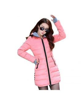 Women's Wadded Down Pink Slim Coat