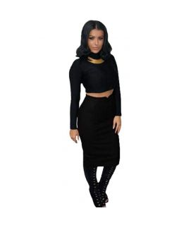 Women's Leather Black Pencil Skirts
