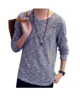 V-Neck Knit Men's Sweatshirt