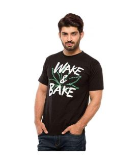 Wake and Bake Men's Black Tshirt
