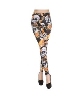 Women's Skull Print Skiny Leggings