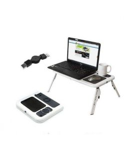 Deals Laptop E-Table Cooling Pad - Black & White