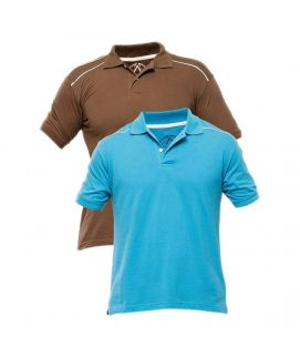 Pack of 2 Cotton Polo Shirt For Men