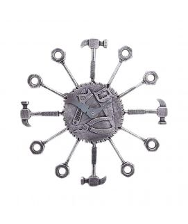 Silver Fancy Wall Clock