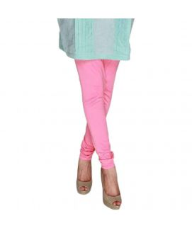 Ladies Pink Jersey Churidar Pajama