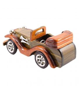 Vintage Wooden Classic Car Decoration Piece