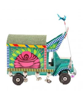 Hand Painted Floral Design Classic Truck