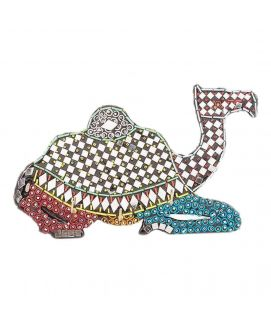 Handmade Mirror Work & Delicately Beaded Classic Wall Hanging Camel Decoration Piece