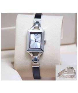 Black & Silver Square Dial Women's Watch