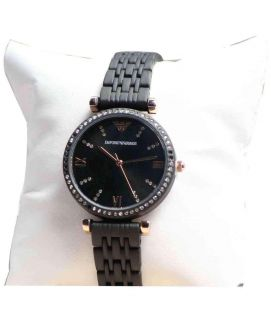 Black & Silver Stylish Wrist Women's Watch