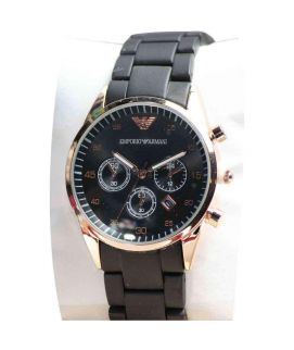 Black & Golden Armani Stylish Watch For Women