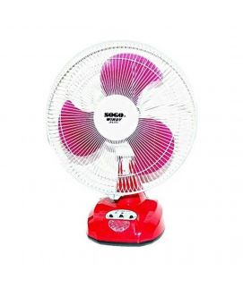 Red Sogo Rechargeable Standing Fan JPN-670