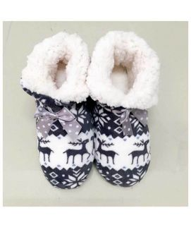 Women's White Graphic Print Slippers