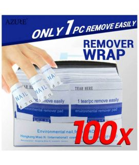 100Pcs Polish Cleaner Gel Nail Wrap