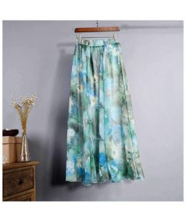 Women's Vintage Chiffon Floral Printed Skirt