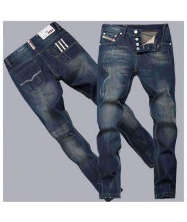 Trendy Slim Fit Botton Fly Jeans