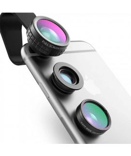 AUKEY Fish Eye Lens 3in 1 Clip On Cell Phone Camera