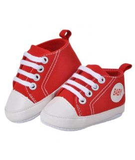 Red Lace Shoes For Baby