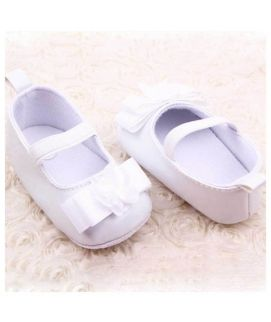 White Baby Girl Shoes Single Strap