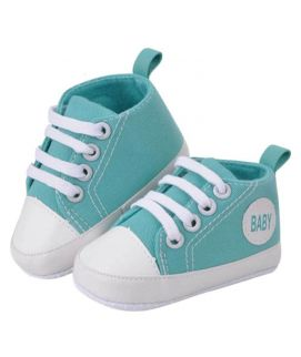 Turquoise Baby Lace Shoes