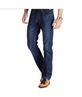 Men's Trendy Blue Straight Fit Jeans
