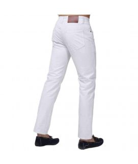 Men's White Slim Fit Jeans