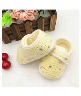 Yellow New Born Baby Single Strap Comfy Shoes