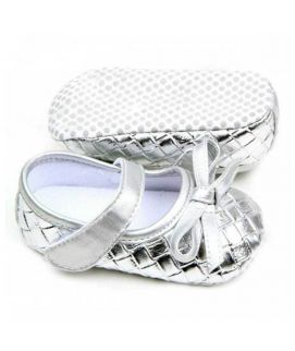 Shing Silver Knot Sandles For Baby Girl