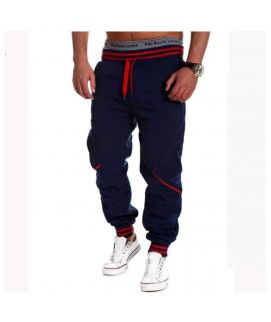 Men's Blue And Red Trouser