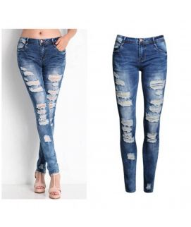 Women's Skinny Fit Stress Jeans