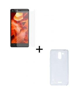 Bundle of Smart Flip Case and Tempered Glass Screen Protector for Infinix