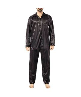 Polyester Men's Satin PJ 2 PC Set