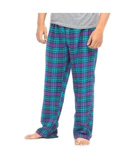 Men's Green & Purple Checkered Cotton Pajama