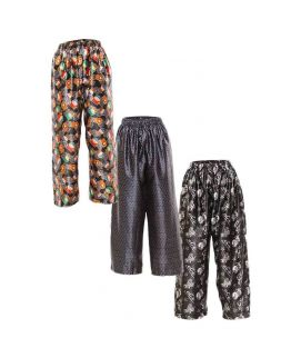 PACK OF 3 POLYESTER SATIN PRINTED MEN'S PAJAMA'S