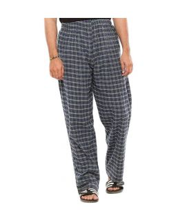 Pack of 2  Black & Blue Cotton Pajama for Men