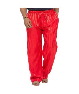 Red Polyester Satin Patty Pajama for Men  MPAJ 10 RED