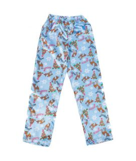 Sky Blue Rudolph At Snoop Printed Polyester Boy's Pajama  MBP 02