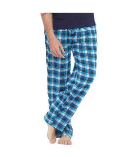Turquoise & White Checkered Cotton Pajama  MPF 09