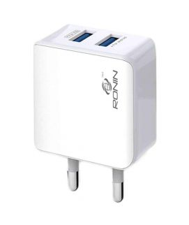 Universal Charger Dual USB White (2.4A) Iphone And Andriod