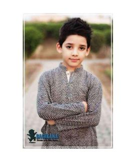 Black & Brown Kurta Shalwar For Boys