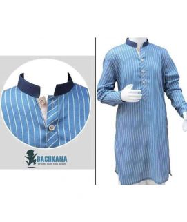 Blue Lining Kurta For Boys