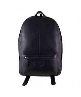 Sienna De Luca Black Leather Laptop Bag For Men
