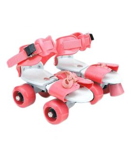 Sportica Pink YX Roller Skates for Kids PU