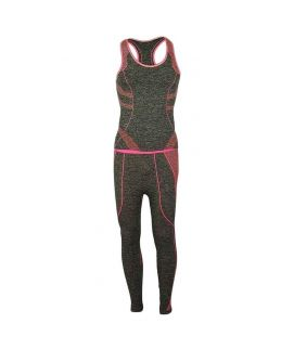 Women's Exercise & Yoga Suit Gray & Pink